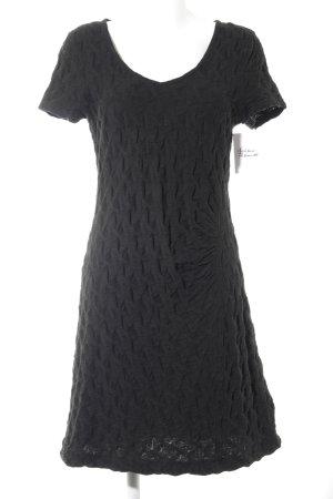 Manon Design A-Linien Kleid schwarz Casual-Look
