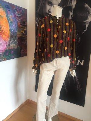 Manosque Designer Bluse oversized Shirt Dots Trend 2019  Und Orsay Leinen  stoff Hose beige