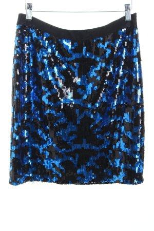 Manoukian Bleistiftrock schwarz-blau Lolita-Look