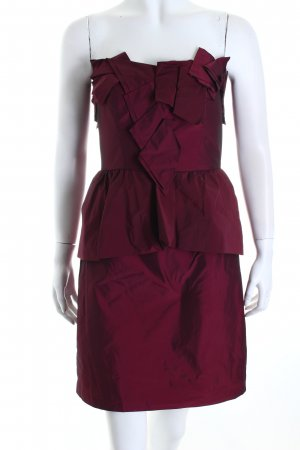 Manoukian Bustierkleid brombeerrot Party-Look