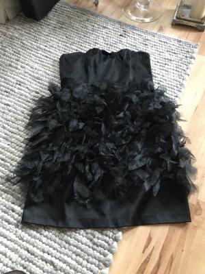 Manoukian Kleid mit Federn Gr. M