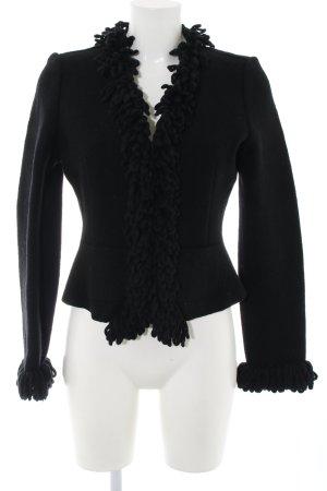 Manoukian Wolljacke schwarz Casual-Look