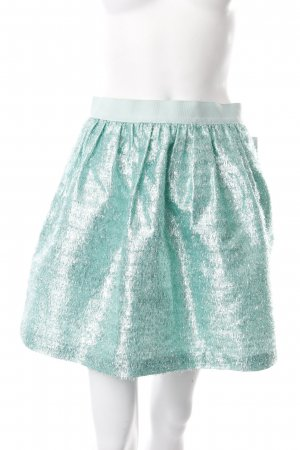 Manoush High Waist Rock mint-silberfarben Glitzer-Optik
