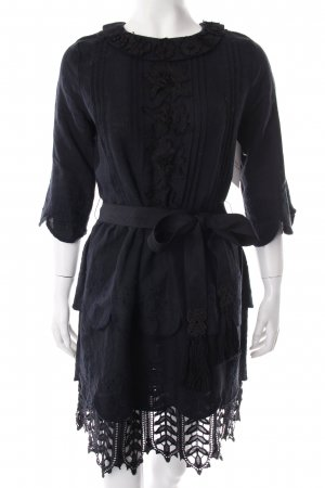 Manoush Midikleid schwarz Blumenmuster Gypsy-Look