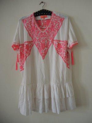 Manoush Paris Designer Folklore-Kleid aufwendige Stickerei Seiden-Mix Boho