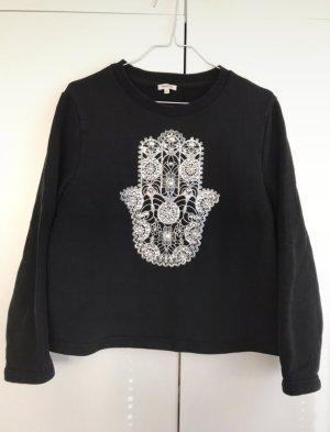 Manoush Pullover Schwarz S Strass Steine Sweatshirt