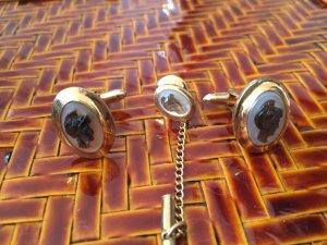 Manschetten Brosche Gold antik