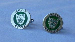 Jaguar Bouton argenté-vert forêt métal