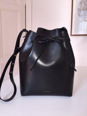 MANSUR GAVRIEL Bucket bag large, black/argento