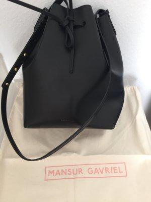 Mansur Gavriel Bucket Bag Large schwarz/blau