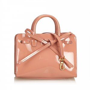 Mansur Gavriel Patent Leather Sun Bag