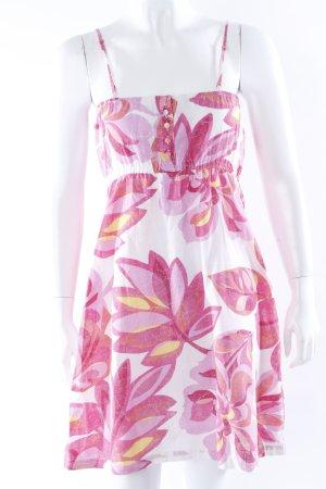 Mantaray Trägerkleid weiß-pink Blumenprint