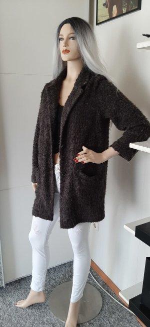 Pull & Bear Chaqueta de lana gris oscuro-gris antracita