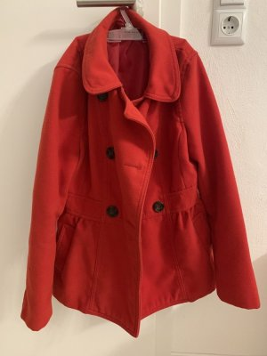 H&M Fleece jas rood