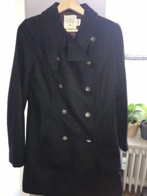 H&M Abrigo corto azul oscuro