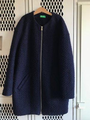 Benetton Cappotto mezza stagione blu Tessuto misto