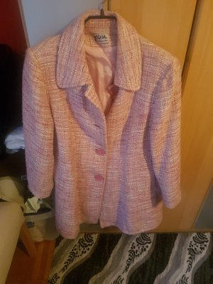 Robe manteau or rose coton