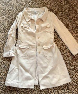 Zara Abrigo blanco puro-crema
