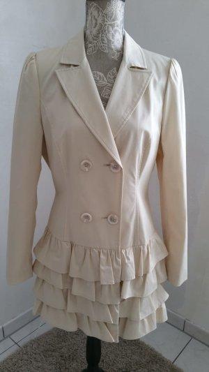 Apart Long Jacket cream-pale yellow mixture fibre