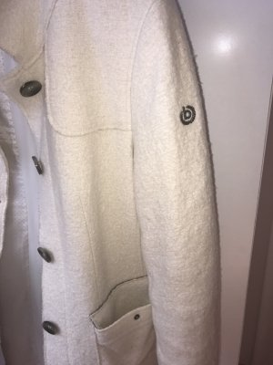 Bugatti Between-Seasons-Coat natural white cotton