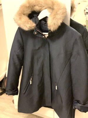 Hooded Coat dark blue-nude