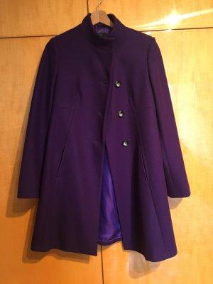 Benetton Cappotto in lana viola scuro