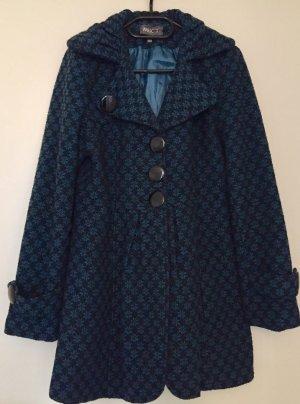 Apricot Wool Coat black-blue