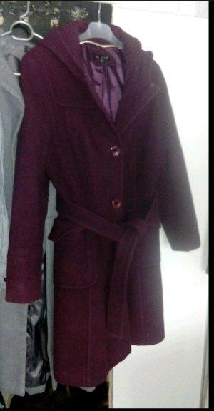 Gabardina tipo vestido púrpura