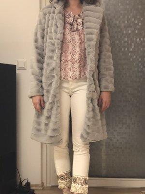 Accessorize Manteau d'hiver gris matériel synthétique