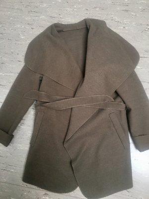 Cappotto in pile marrone-bronzo