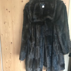 Ashley Brooke Fake Fur Jacket dark brown