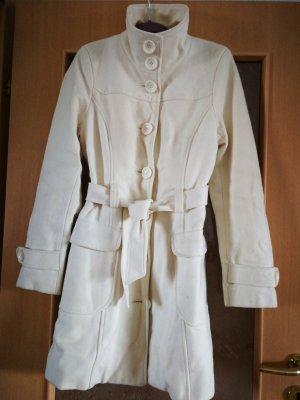 Orsay Manteau en laine blanc cassé