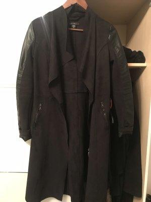 Geklede jas zwart
