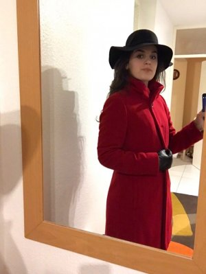 Appelrath-Cüpper Abrigo de lana rojo ladrillo