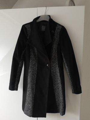 Veste longue noir-gris foncé