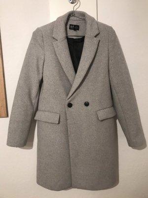Zara Veste longue gris clair-gris