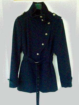 Mantel asymmetrisch Kindergr. XL dunkelblau