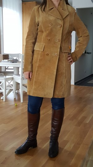 Mantel aus echtem Wildleder, innen aus Seide der Marke Gipsy in Größe S