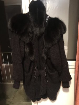 Mantel aus Kidmohair mit Fuchspelz 42