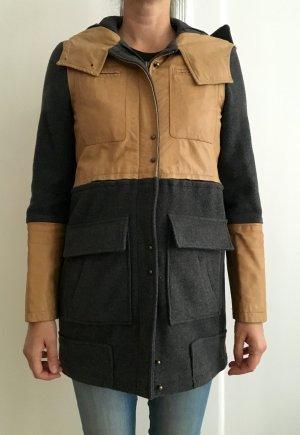Mantel aus Leder und Wolle,  ASOS, 38, top Zustand