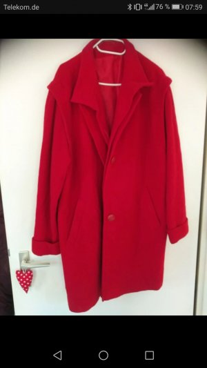 Oversized Jacket red new wool