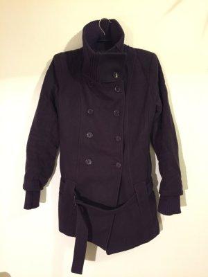 Mantel aus Schurwolle, dunkelviolett von Imperial, Gr. L (italienisch), wie S/M