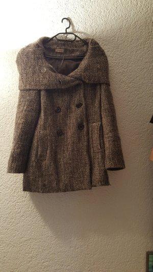 Mantel aus Schurwolle mit Rotkäppchenkapuze