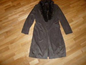 Mantel aus Velourleder-Imitat von Jean Paul