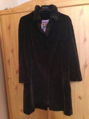 Fake Fur Coat black brown