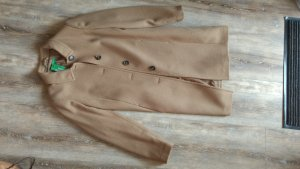 Benetton Wool Coat bronze-colored-camel wool