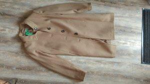 Mantel aus Wolle camel von Benetton Neu