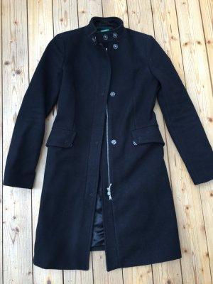 Mantel aus Wolle, schwarz, Benetton, ital. Größe 38
