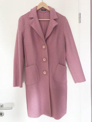 Mantel aus Wolle von Orwell rosa Wollmantel Übergangsmantel Übergangsjacke