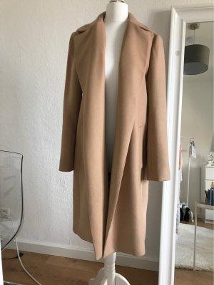 Zara Giacca lunga beige-color cammello